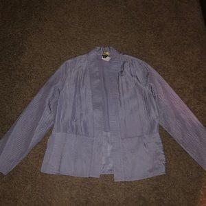Eileen Fisher   Lavender 100% Silk Blazer